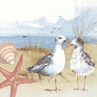 Servietten 25x25 cm - SEAGULLS AT THE BEACH