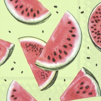 Servietten 25x25 cm - WATERMELON green