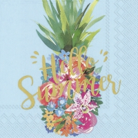 Servietten 25x25 cm - HELLO SUMMER blue