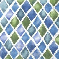 Servietten 25x25 cm - LOANA blue