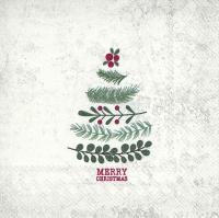 Servietten 25x25 cm - NATURAL CHRISTMAS TREE