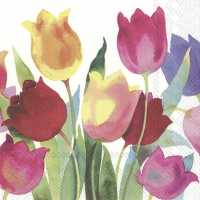 Servietten 25x25 cm - POWERFUL TULIPS