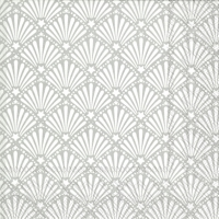 Servietten 25x25 cm - ROCAILLE white silver