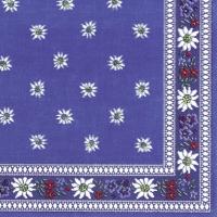 Servietten 25x25 cm - EDELWEISS blau