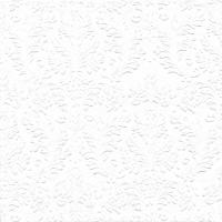 Servietten 25x25 cm - CAMEO UNI weiß