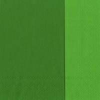 Servietten 33x33 cm - DOUBLO Dunkelgrün dunkelgrün