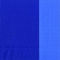 Servietten 33x33 cm - DOUBLO blau