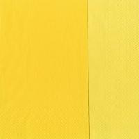 Servietten 33x33 cm - DOUBLO gelb