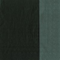 Servietten 33x33 cm - DOUBLO schwarz