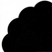 Servietten - Rund - UNI black