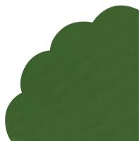 Servietten - Rund - UNI smaragd