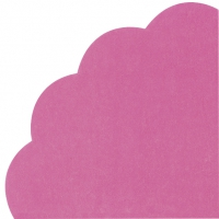 Servietten - Rund - UNI dark pink