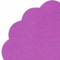 Servietten - Rund - UNI dark purple