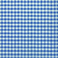 Servietten 33x33 cm - VICHY bayerisch blau