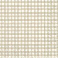 Servietten 33x33 cm - VICHY white linen