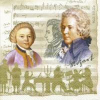 Servietten 33x33 cm - Mozart creme