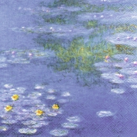 Servietten 33x33 cm - MONET : WATERLILIES