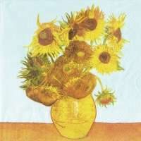Lunch Servietten VAN GOGH : SUNFLOWERS