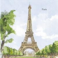 Servietten 33x33 cm - PARIS