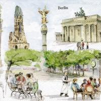 Servietten 33x33 cm - BERLIN