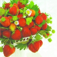 Servietten 33x33 cm - STRAWBERRY BOWL