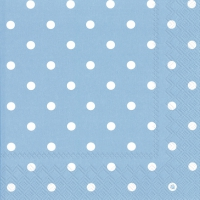 Servietten 33x33 cm - LITTLE DOTS light blue