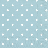 Servietten 33x33 cm - LITTLE DOTS turquoise