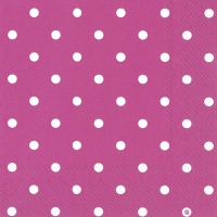 Servietten 33x33 cm - LITTLE DOTS pink