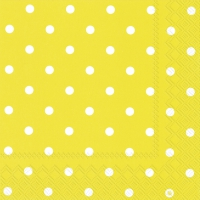 Servietten 33x33 cm - LITTLE DOTS gelb