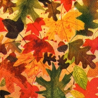 Servietten 33x33 cm - AUTUMN LEAVES