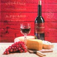 Lunch Servietten Bordeaux et Fromage