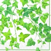 Servietten 33x33 cm - Ivy Ornaments white
