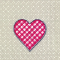 Servietten 33x33 cm - LOVELY DOTTY linen red