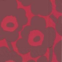 Servietten 33x33 cm - UNIKKO red red