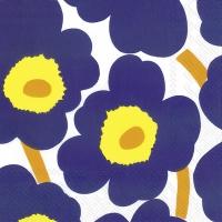 Servietten 33x33 cm - UNIKKO dark blue