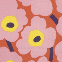 Servietten 33x33 cm - UNIKKO rose orange
