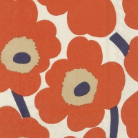 Servietten 33x33 cm - UNIKKO cream red