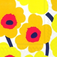 Servietten 33x33 cm - UNIKKO dark yellow