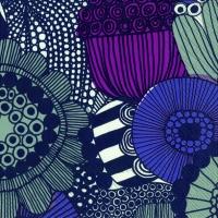 Servietten 33x33 cm - SIIRTOLAPUUTARHA violett