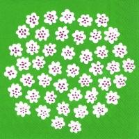 Servietten 33x33 cm - PUKETTI green