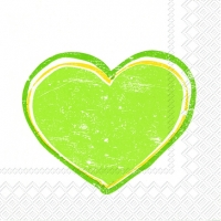 Servietten 33x33 cm - HEARTBEAT light green