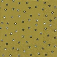 Servietten 33x33 cm - Kleine Sterne Gold