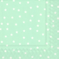 Servietten 33x33 cm - LITTLE STARS light blue