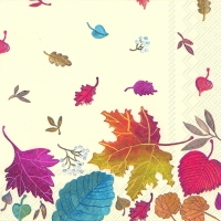 Servietten 33x33 cm - AUTUMN DAY cream