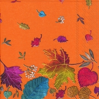 Servietten 33x33 cm - AUTUMN DAY terracotta