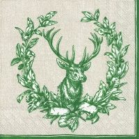 Servietten 33x33 cm - COUNTRY DEER green