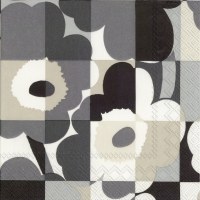 Servietten 33x33 cm - MINI-RUUTU-UNIKKO grey
