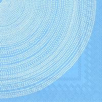 Servietten 33x33 cm - FOKUS blau