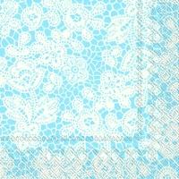 Servietten 33x33 cm - PRETTY LACE light blue