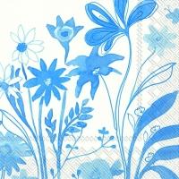Servietten 33x33 cm - COLEEN blau